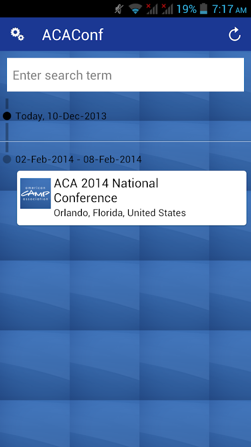 ACA's National Conference - screenshot
