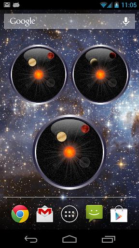 Planet Analog Clock Widget