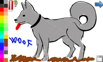 Screenshot of Coloring Book: Dogs! FREE