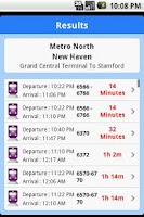 Screenshot of iTransitBuddy Metro North Lite