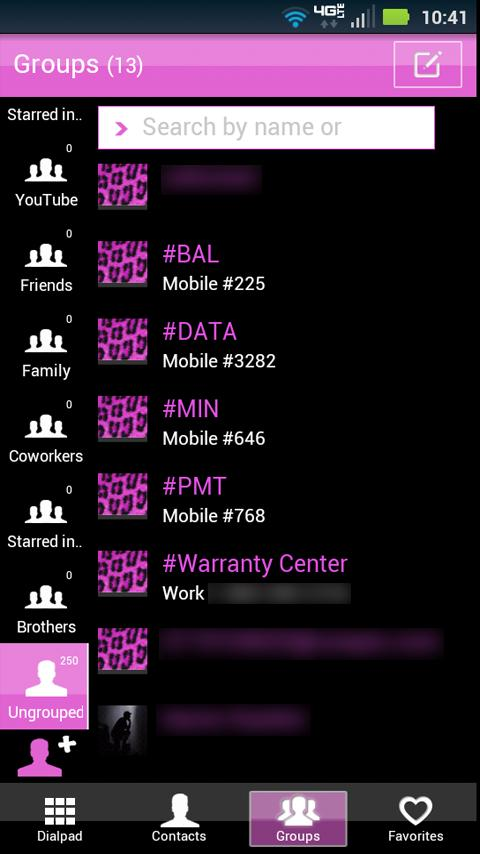 Go Contacts Pink Cheetah Theme - screenshot