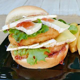 Cranberry Camembert Chicken Burger.