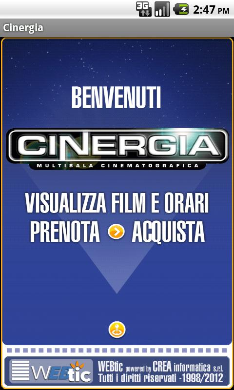 Webtic Cinergia Cinema - screenshot