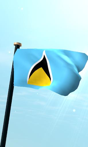 聖盧西亞旗3D動態桌布