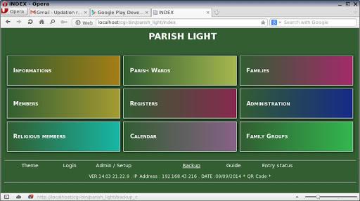 Parish Light -Parish database