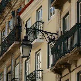 Lamp at Lisbon by Joao Sousa - City,  Street & Park  Street Scenes