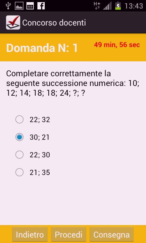 Quiz concorso docenti - screenshot