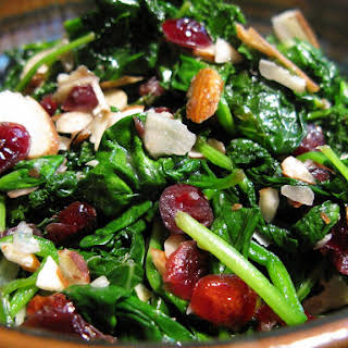 Hot Cranberry Spinach Salad.