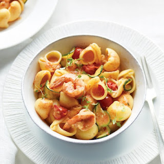 Conchiglie with Shrimp, Roasted Tomatoes, and Pimenton