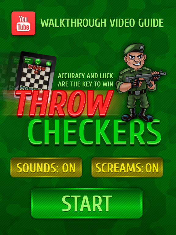 Throw checkers HD- screenshot