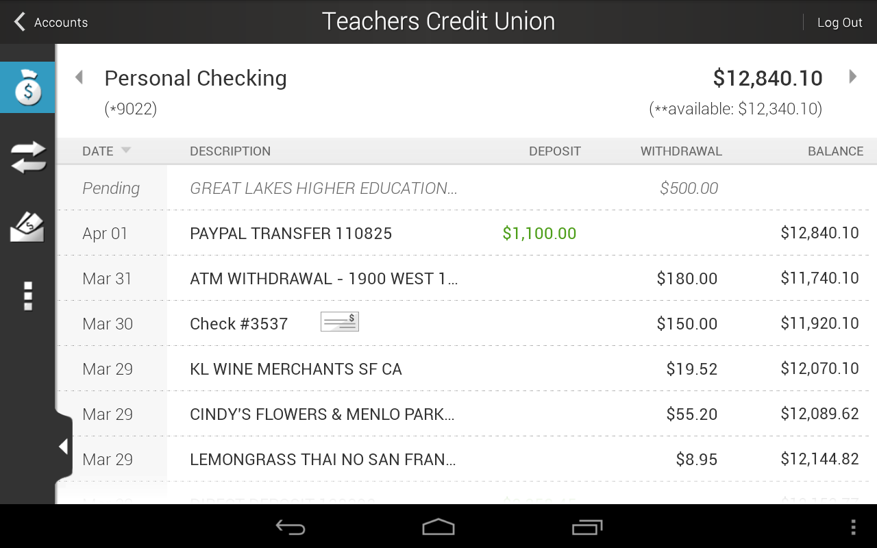 Teachers Credit Union - screenshot