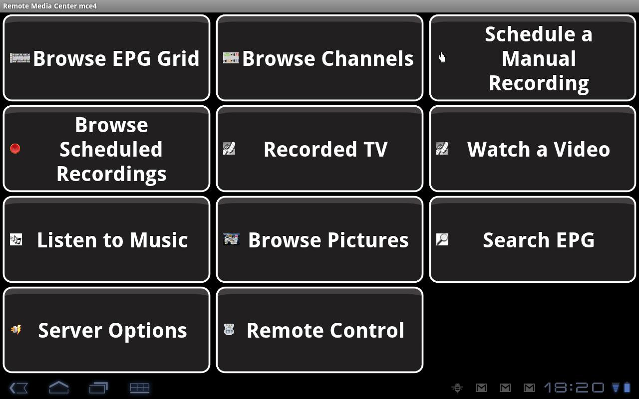 Remote Media Center HD- screenshot