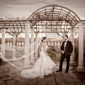 Sacramento Grand Ballroom by Cesar Palima - Wedding Bride & Groom