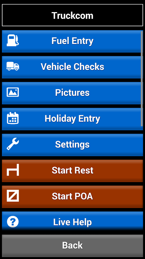 Truckcom Mobile- screenshot