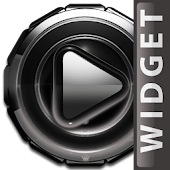Poweramp  widget - Silver Glow