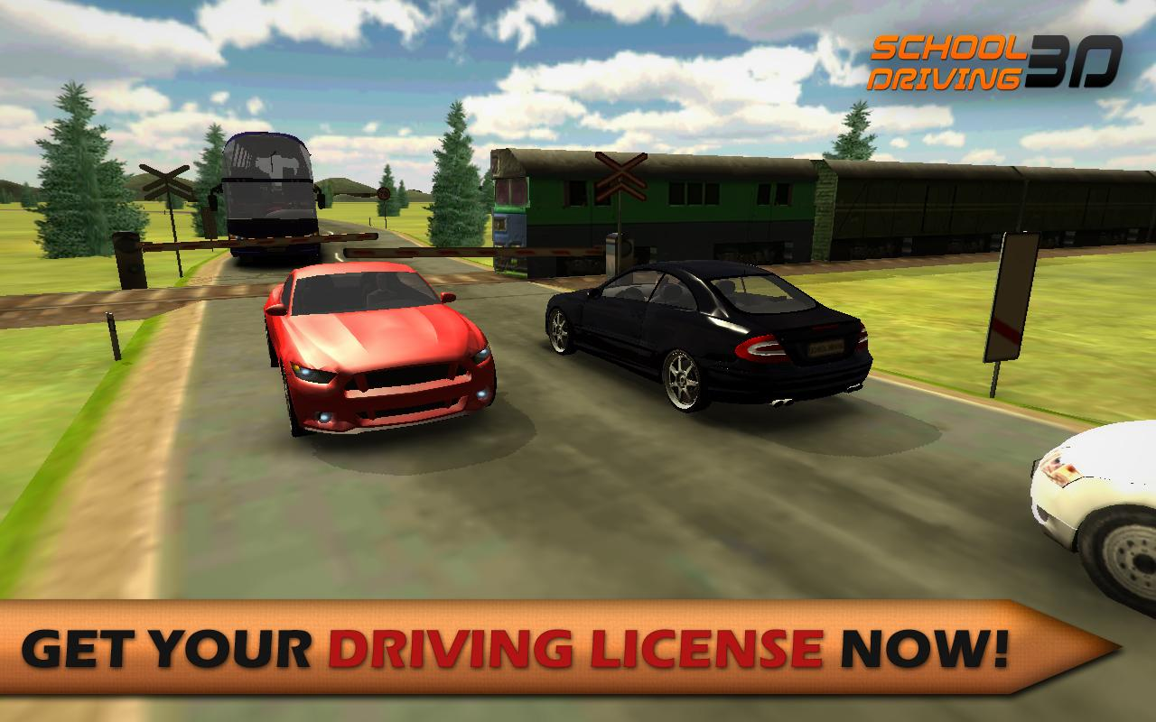 Super car city driving sim free games free online - School Driving 3d Screenshot