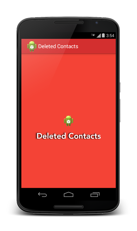 Deleted Contacts- screenshot