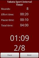 Screenshot of Tabata Sport Interval Timer