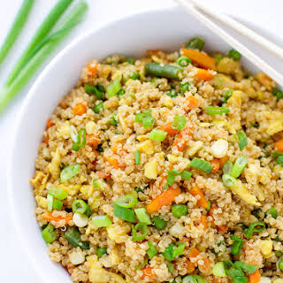 Easy Quinoa Fried Rice.