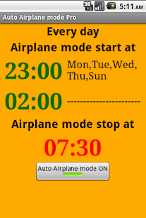 Auto Airplane mode Pro - screenshot thumbnail
