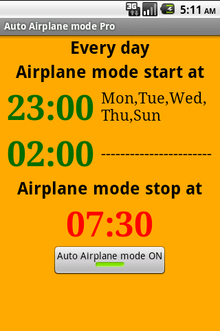 Auto Airplane mode Pro - screenshot