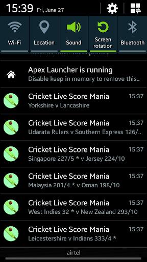 Cricket Live Score Mania