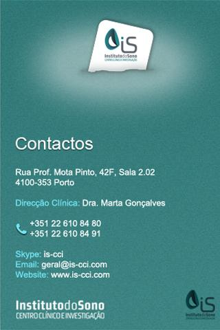 IS-CCI Instituto do Sono - screenshot