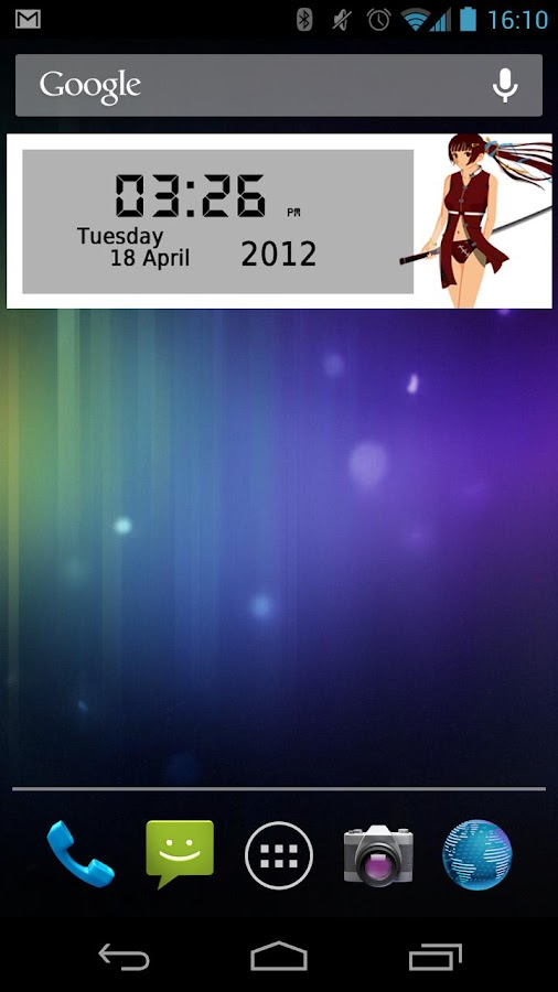Anime HD Clock Widget - screenshot