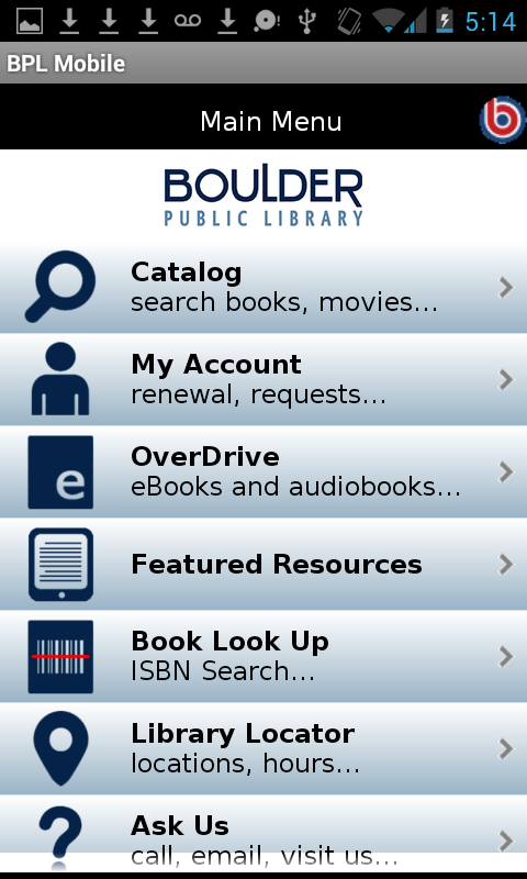 Boulder Public Library- screenshot