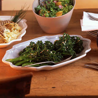 Spicy Sauteed Broccolini with Garlic.