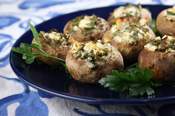 Feta- Stuffed Mushrooms Recipe