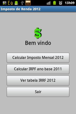 Imposto de Renda 2013 - screenshot