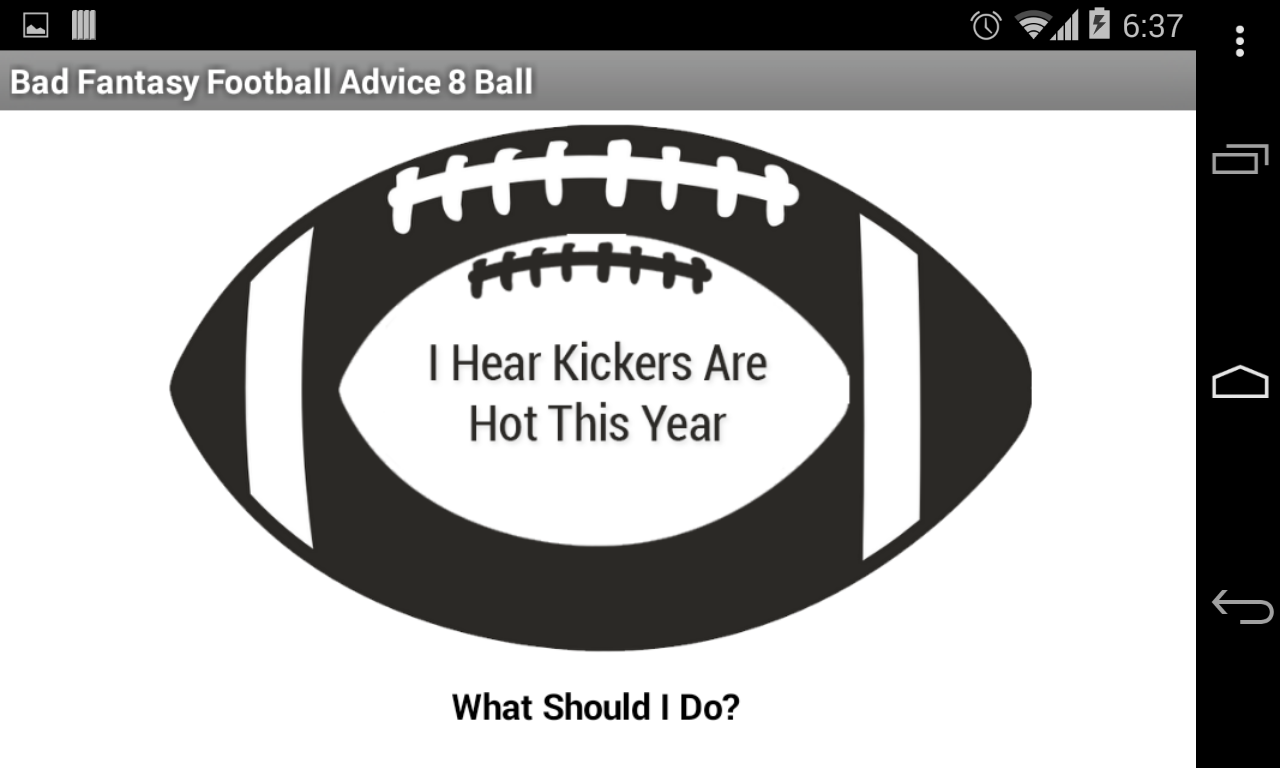 BadFantasyFootballAdvice8Ball - screenshot