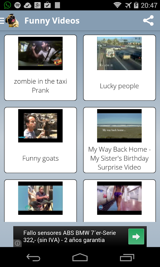 Screenshots of Free Funny Videos for Whatsapp for Android