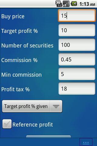 Stock Calculator Financial