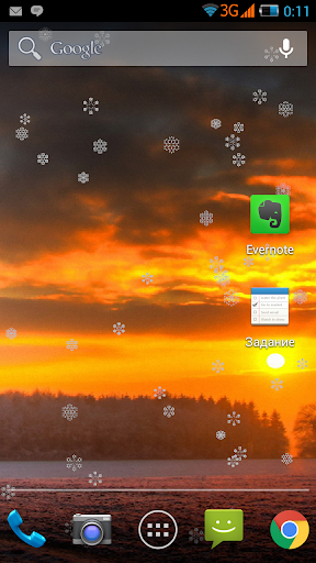 Fractal Snowfall Live ❄