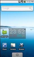 Screenshot of Real LED Clock Widget