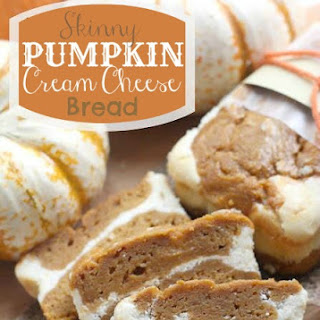 Skinny Pumpkin Cream Cheese Bread