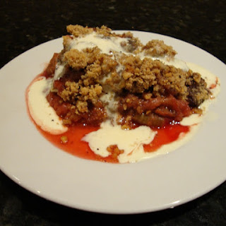 Rhubarb Chocolate Hazelnut Crumble.