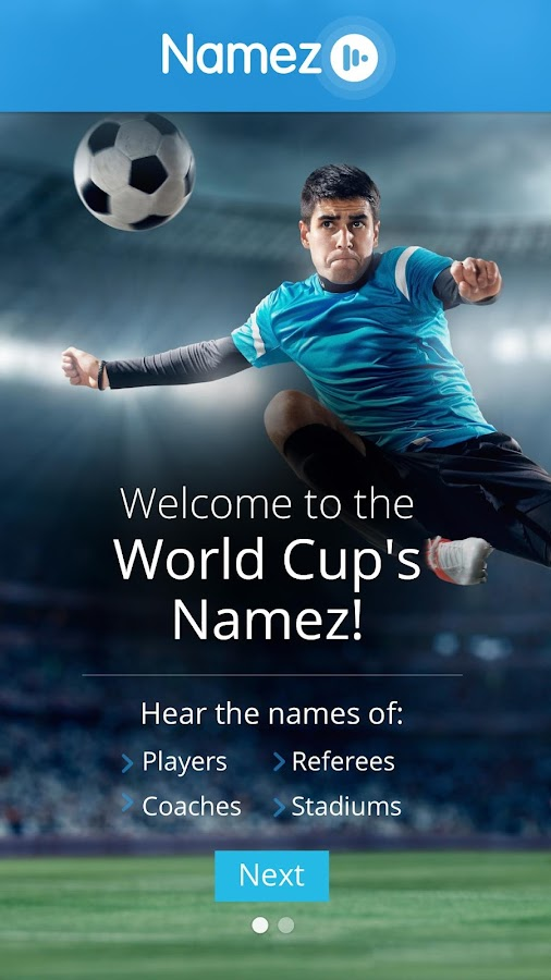 World Cup Namez - screenshot