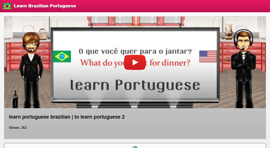 learn how to speak brazilian language