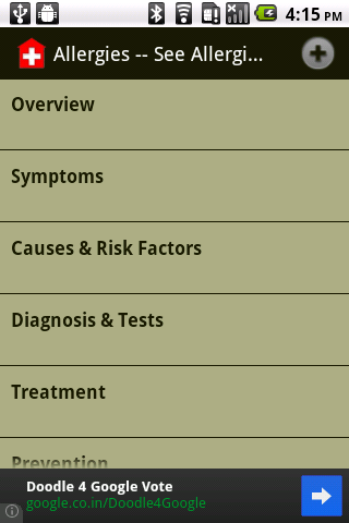 General Health Info - screenshot