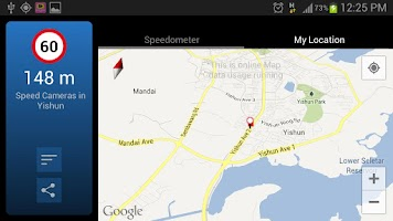 Screenshot of AES Speed Camera Singapore