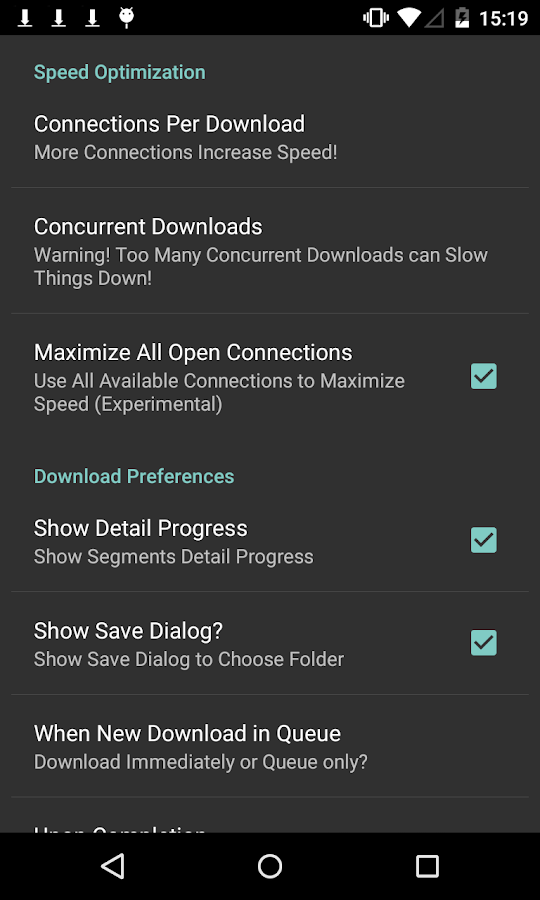 Turbo Download Manager - screenshot