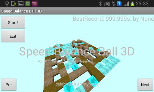 Speed balace ball 3D