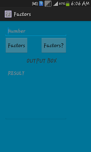 Factors : Maths