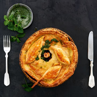 Slow Roast Lamb Pie With Sour Cream Pastry And Fresh Mint Sauce
