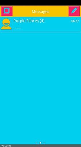 Retro Neon Go SMS Pro Theme