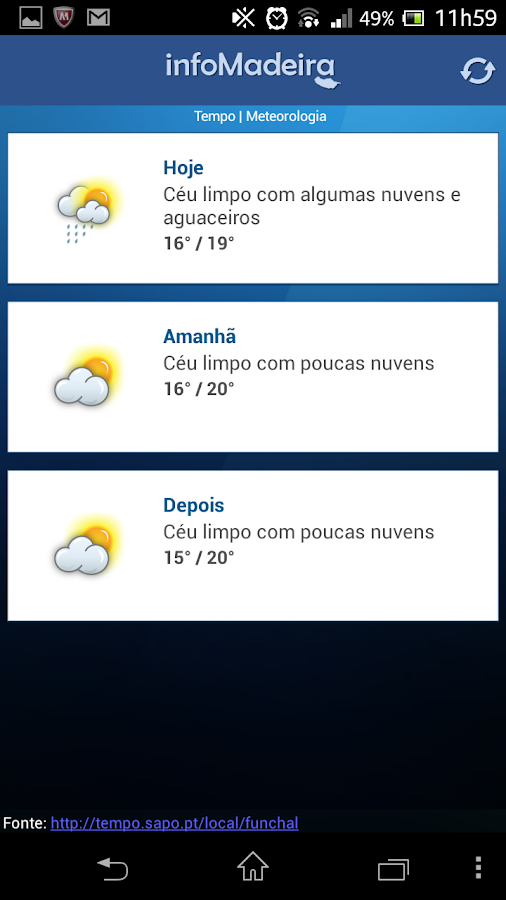 Info Madeira - screenshot