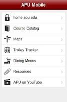Screenshot of APU Mobile